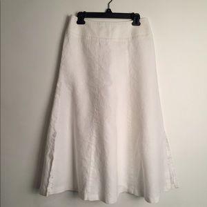 Talbots linen skirt white EUC 6